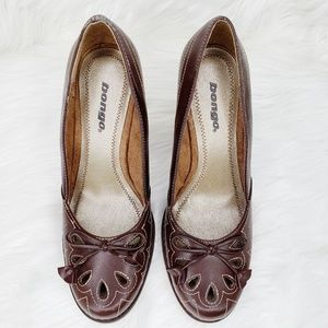 Bongo Womens Brown Leather Dress Shoes Size 8 Med